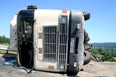 Truck crash Stock Images