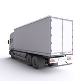 Truck. 3d illustration. Royalty Free Stock Photos