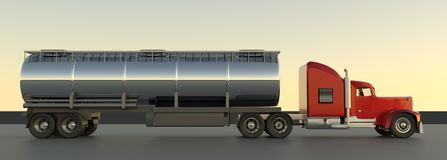 Truck 3d render. vector illustration