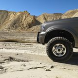 Truck in Death Valley. Royalty Free Stock Photography