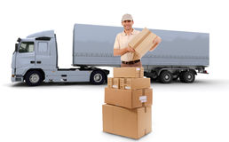 Truck delivery Stock Photography