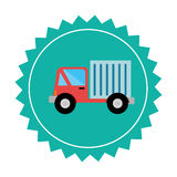 Truck delivery service icon Royalty Free Stock Images