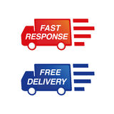 Truck Delivery Service Royalty Free Stock Photography