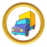 Truck delivery vector icon Royalty Free Stock Images