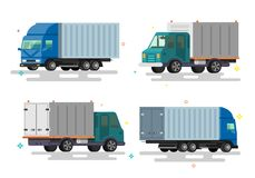 Truck delivery vector illustration. stock illustration