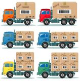 Truck for delivery vector set Stock Photo