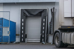 Truck at the depot of a forwarding company. Stock Image