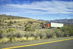 Truck in the desert. Of Arizona Royalty Free Stock Photo
