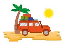 Truck in desert stock illustration