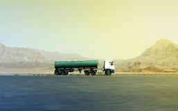 Truck in the desert in Iran Royalty Free Stock Photo