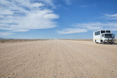Truck in the desert. A truck for touristys in the namibian desert Royalty Free Stock Photo