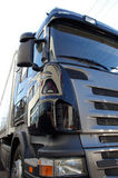 Truck details. Wide angle shot of new truck Royalty Free Stock Photo