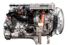 Truck diesel engine Stock Photos