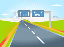 Truck direction Royalty Free Stock Images