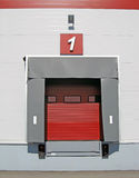Truck discharge terminal. Terminal for truck loading or discharge with closed gates Stock Photos