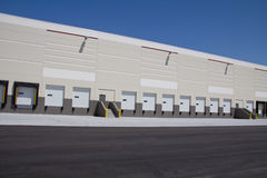 Truck Docks. Image of a shipping wareshouse and it's truck docks royalty free stock image