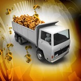 Truck with Dollar money Stock Image