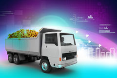 Truck with Dollar money Royalty Free Stock Image