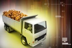 Truck with Dollar money Stock Photo