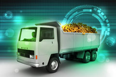Truck with Dollar money Stock Images