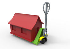 Truck dolly home concept Royalty Free Stock Photography