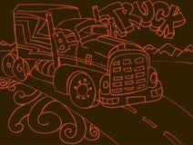 Truck Doodle Stock Photos
