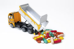 Truck downloading drugs Stock Photos