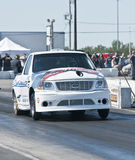 Truck on the dragstrip Stock Image