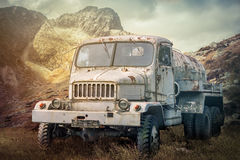 Truck on dramatic sky Stock Photography