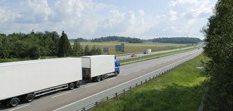 Truck-drive in panorama view Royalty Free Stock Image