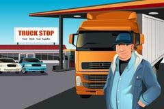 Truck driver vector illustration