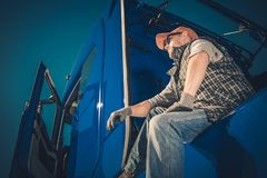 Truck Driver Cargo Transport royalty free stock photos