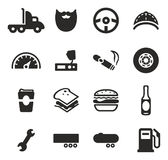 Truck Driver Icons stock illustration