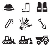 Truck Driver Icons Stock Image