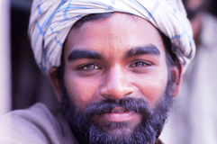 Truck driver, New Delhi, India. India has more than 7 Million trucks crossing the country every day. This nice gentleman agreed to have his picture taken Royalty Free Stock Photo