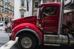 Truck driver in New York City, USA royalty free stock image