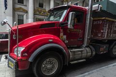 Truck driver in New York City, USA royalty free stock photography
