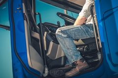 Truck Driver Occupation royalty free stock images