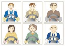 Truck driver set royalty free illustration