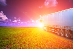 Truck drives Stock Photos