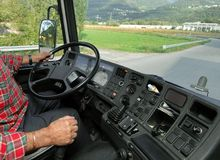Truck driving royalty free stock images