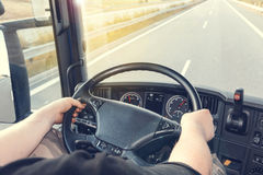 Truck driving Royalty Free Stock Photos