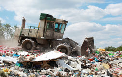 Truck Dump. Truck to dump garbage troops Stock Photos