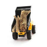 Truck dump toy and wood Stock Image