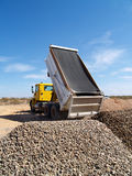 Truck Dumping Gravel Royalty Free Stock Image