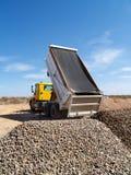 Truck Dumping Gravel royalty free stock image