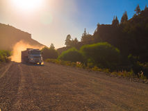 Truck in dust road Stock Image