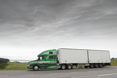 Truck in early morning Stock Image