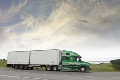 Truck in early morning Stock Images