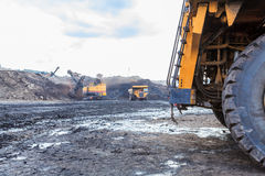 Truck and Electric Shovel in Open Pit Royalty Free Stock Photography